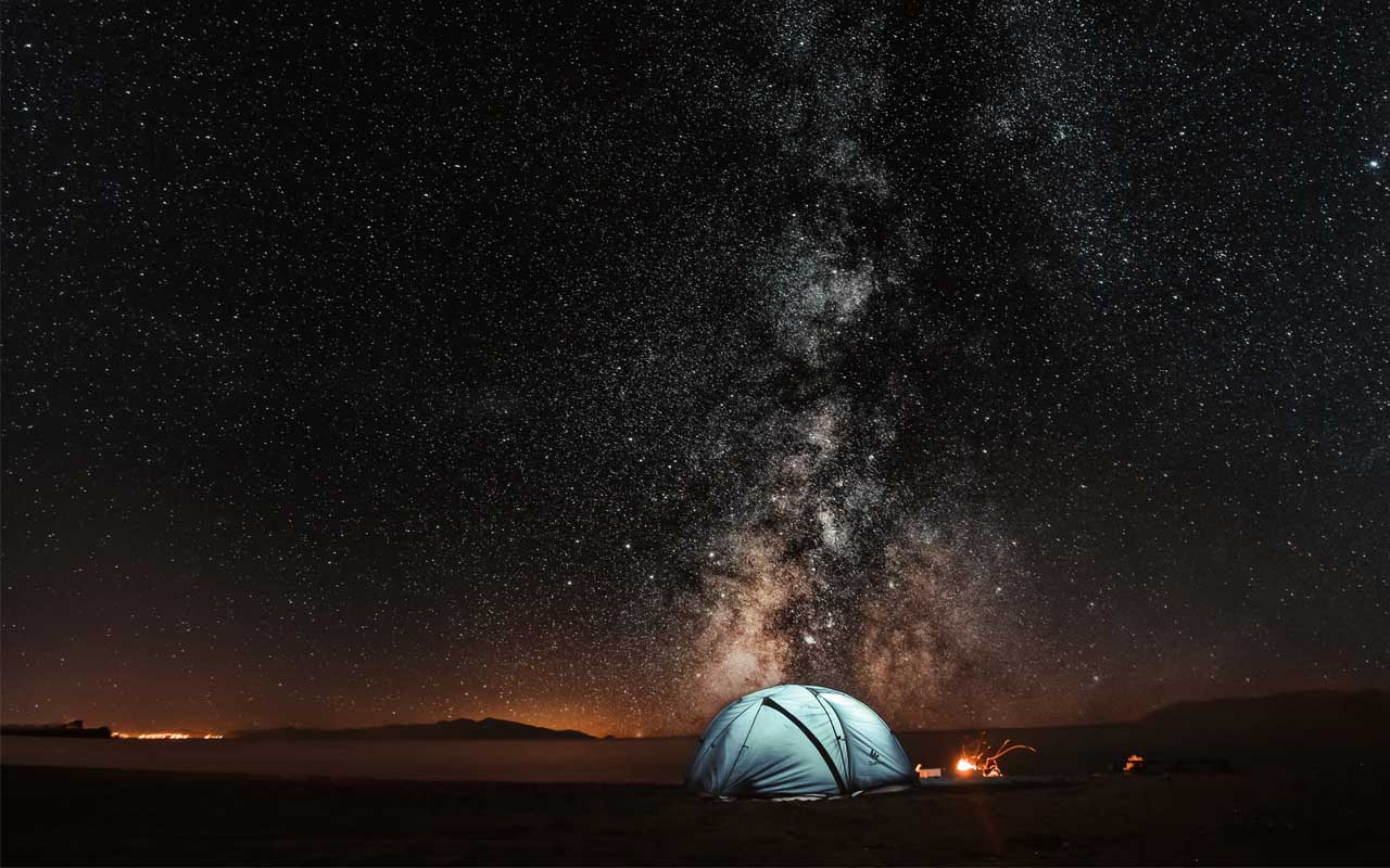 camping, night, sky, Sweden, facts