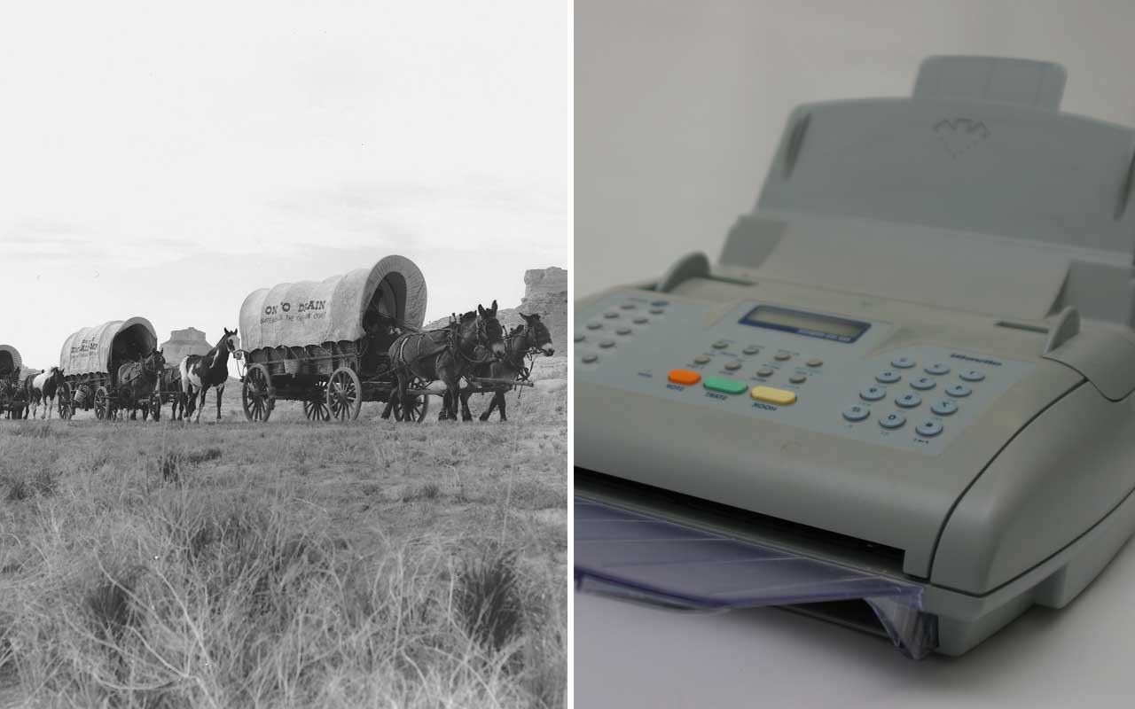 Oregon trail, fax machine, life, history, facts