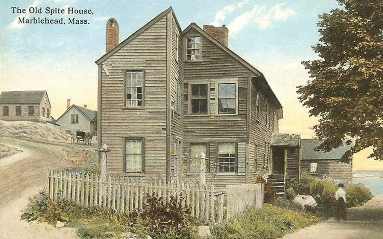 The Old Spite House – Marblehead, MA, funny, house, construction, life, history