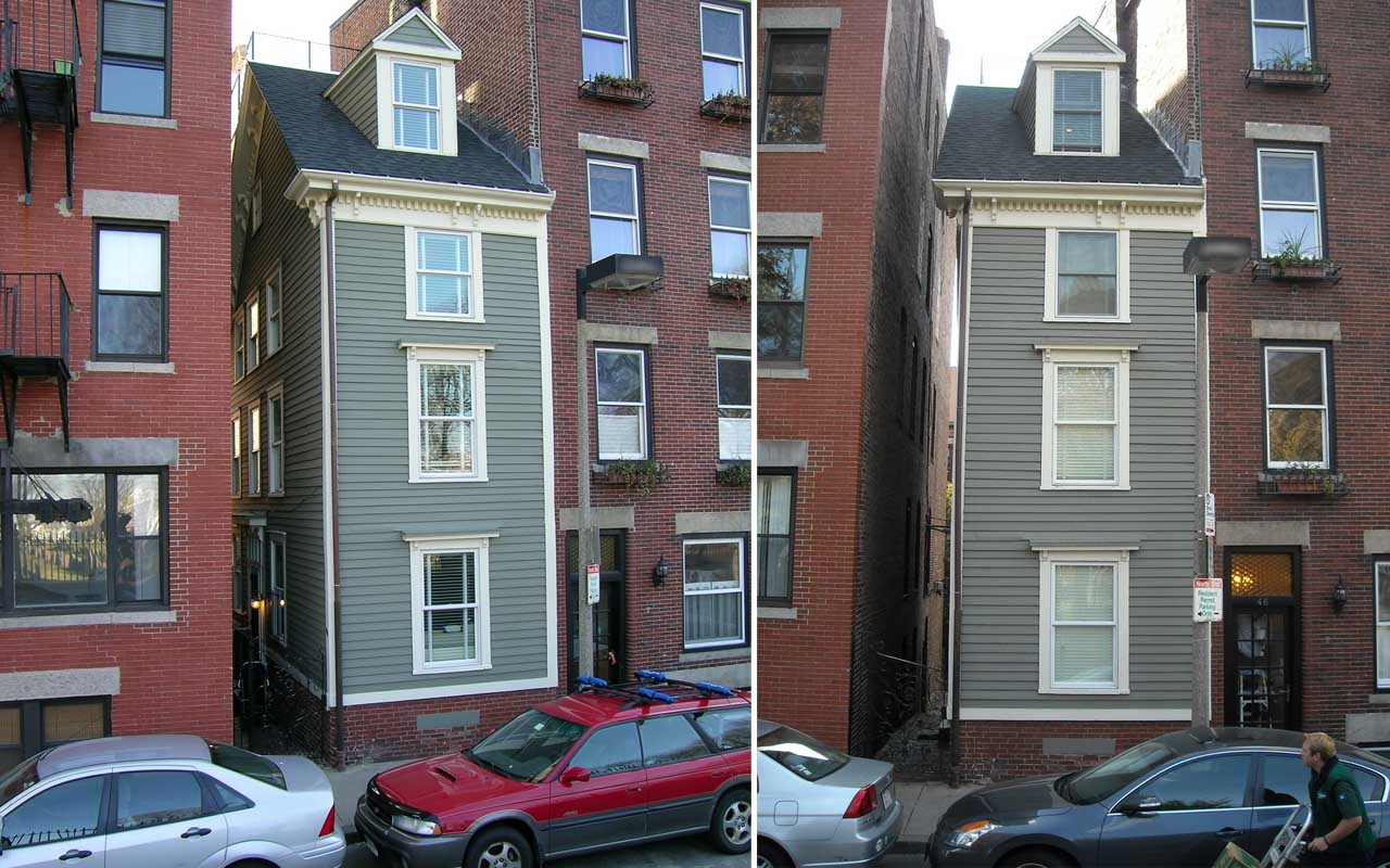 Skinny House, Boston, Massachusetts, spite house, history, life, people