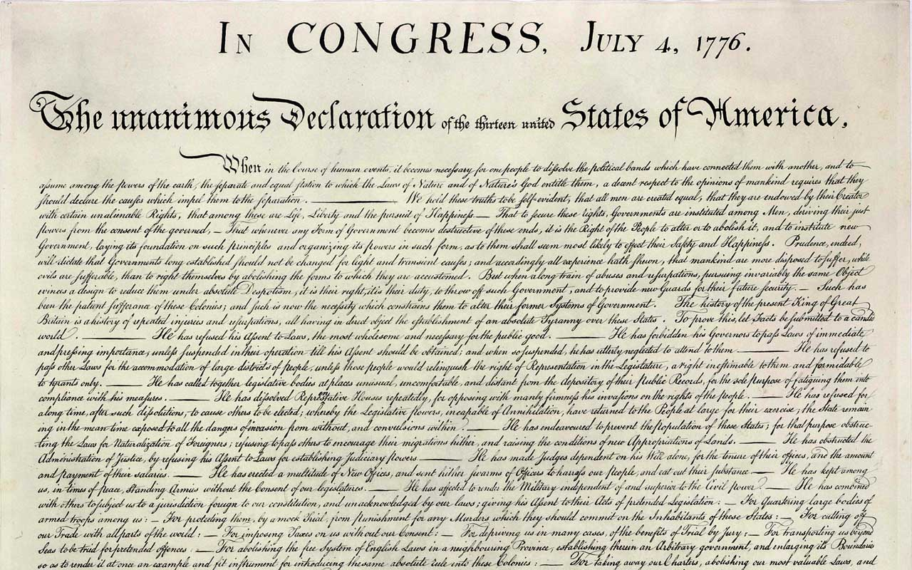 Declaration of Independence, Congress, original, facts, life, people, junk