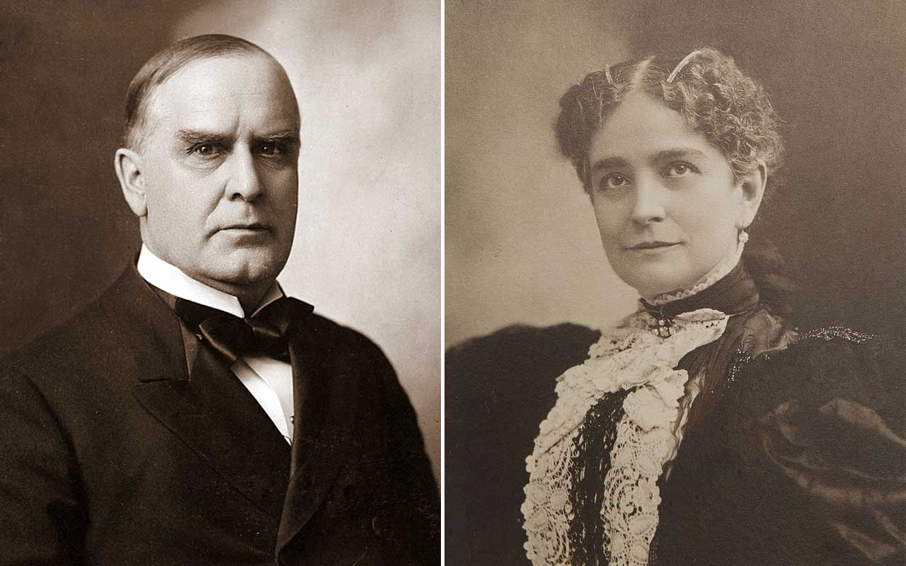 William McKinley, president, Ida Saxton, facts, life, prominent
