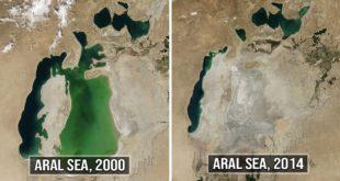 Aral sea, China, transforming, NASA, science, facts