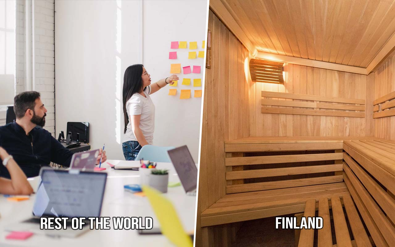 meetings, business, facts, sauna, Finland, traditions