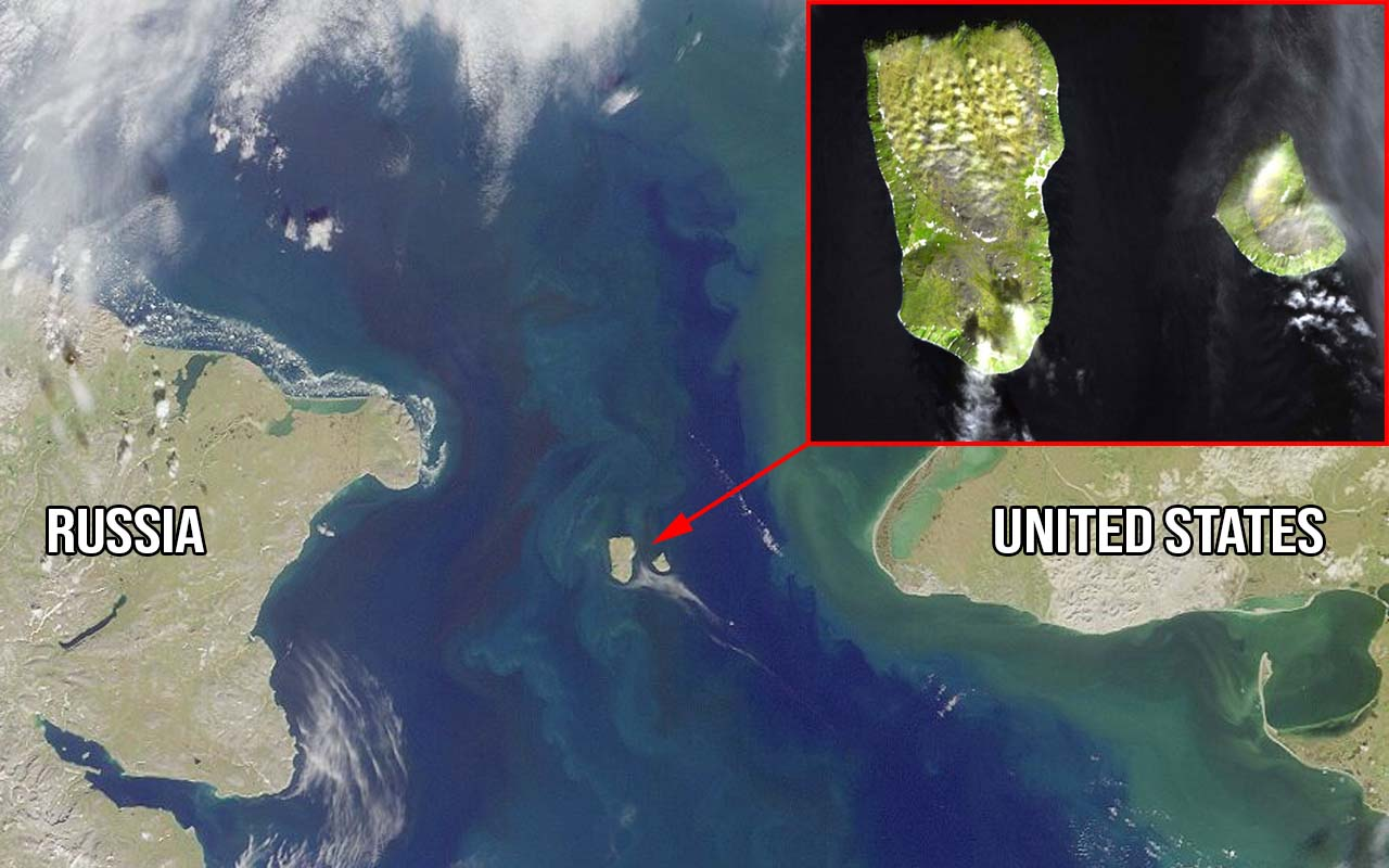 Diomede Islands, Big Diomede, United States, Russia, unbelievable, facts