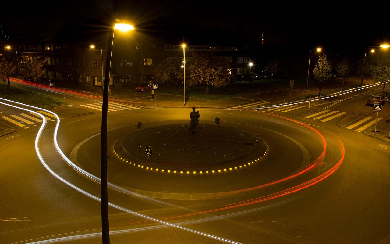 roundabouts, road, traffic, life, invention, driving, travel
