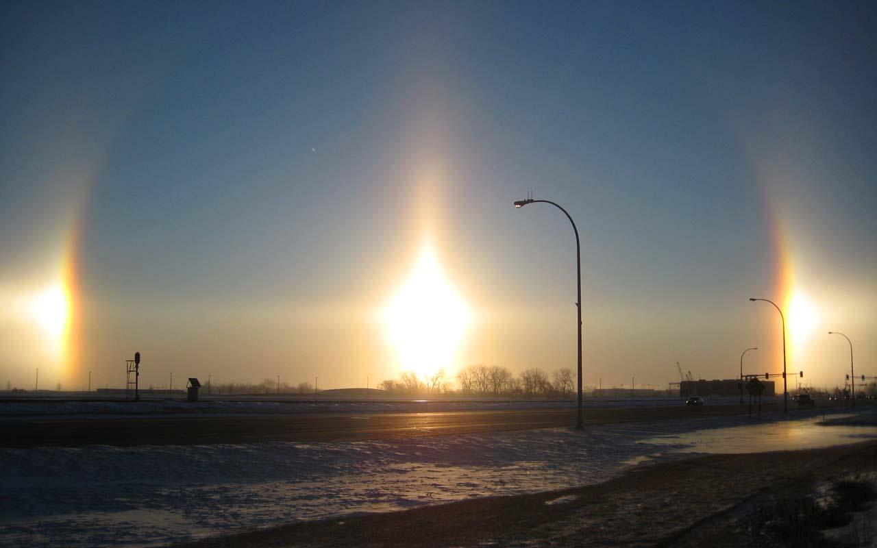 sundogs, halo, reflection, nature, optical, illusion, facts, science