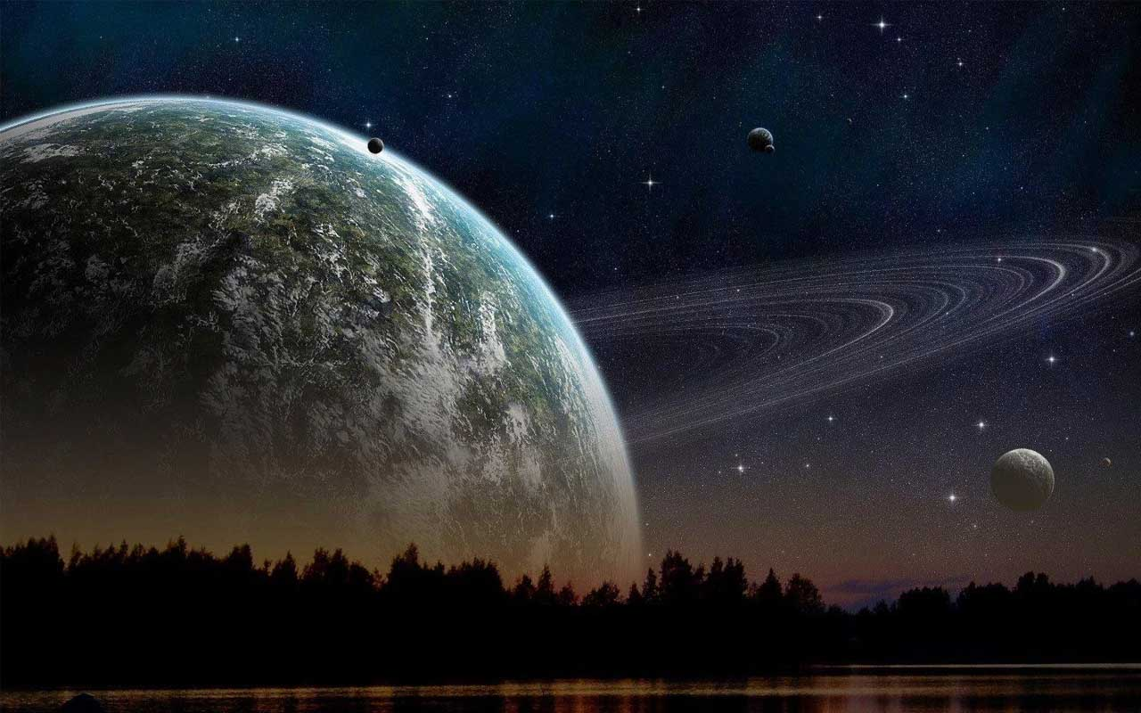 Saturn, planet, universe, life, people, art, behance