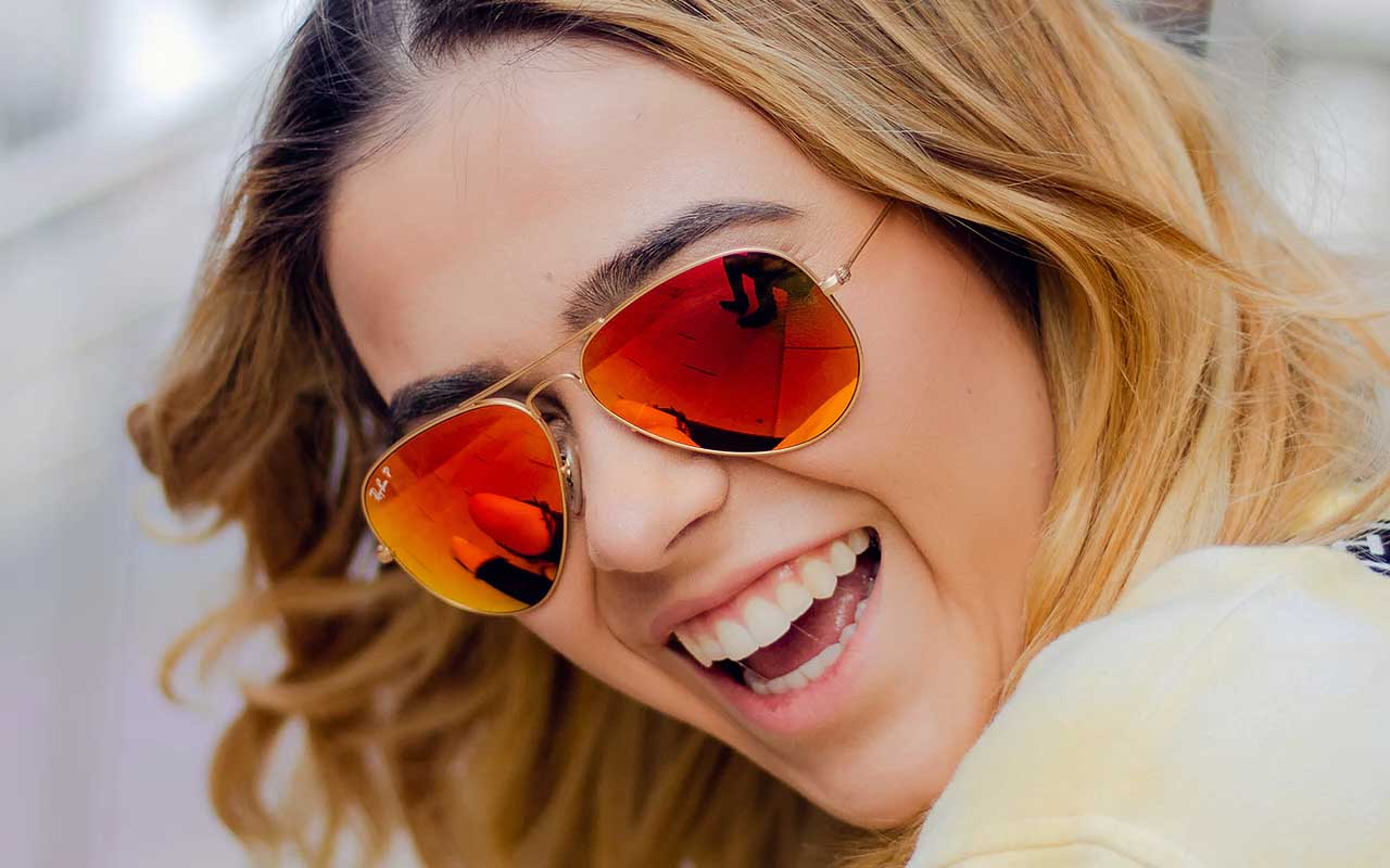 sunglasses, facts, life, science, research, smile, attractive, symmetry