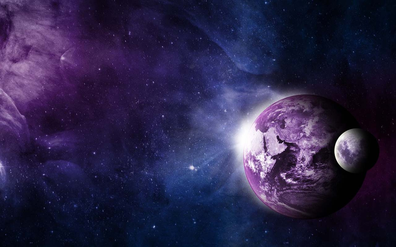 purple, Earth, hue, color, sun rays, facts, science