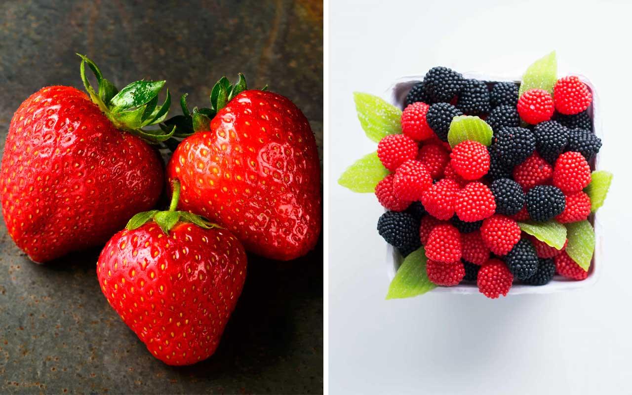 strawberries, blueberries, blackberries, raspberries, foods, berries, fruits, vegetables, healthy