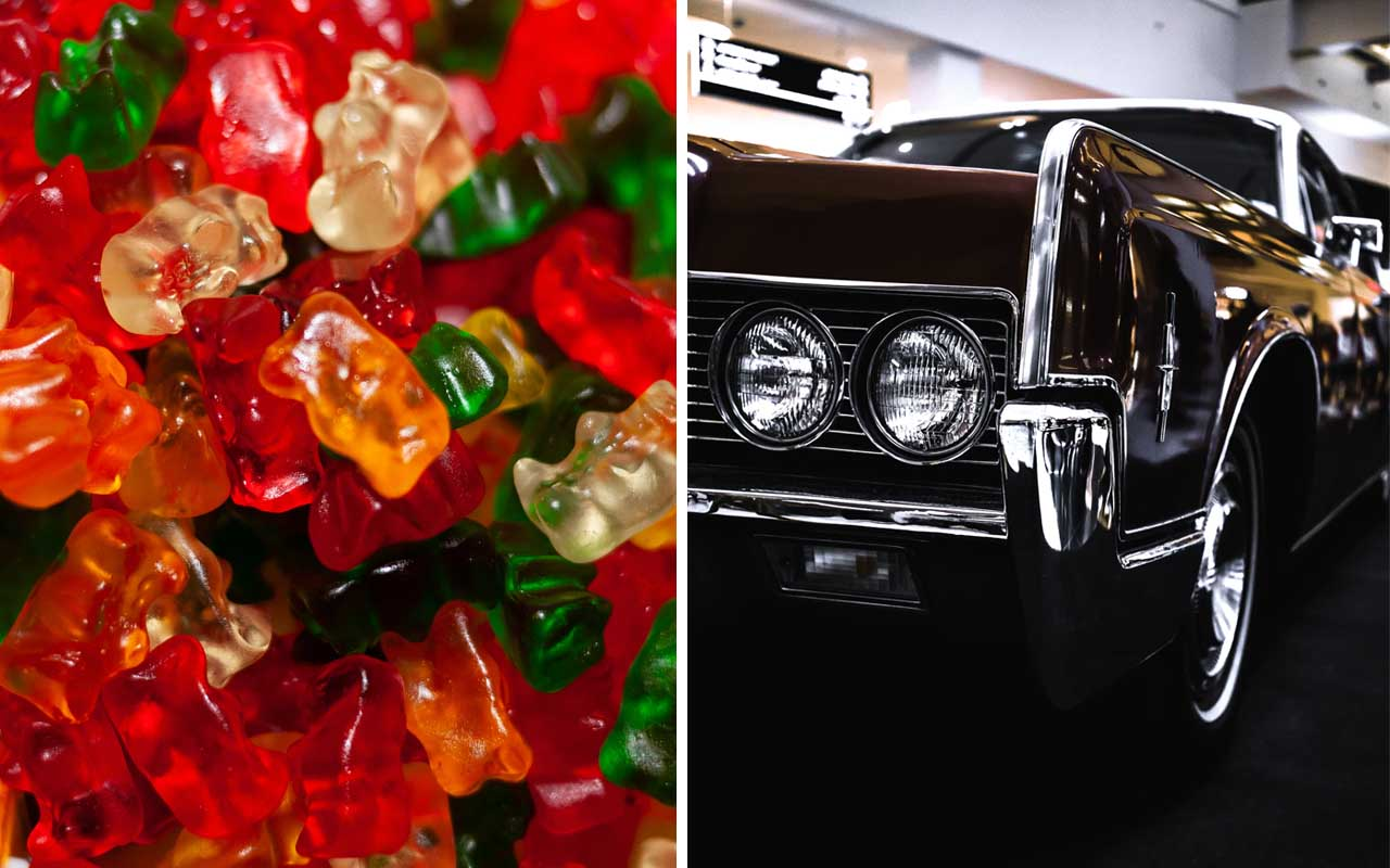 gummy bears, car, carnuba, wax, coating, food, facts, science