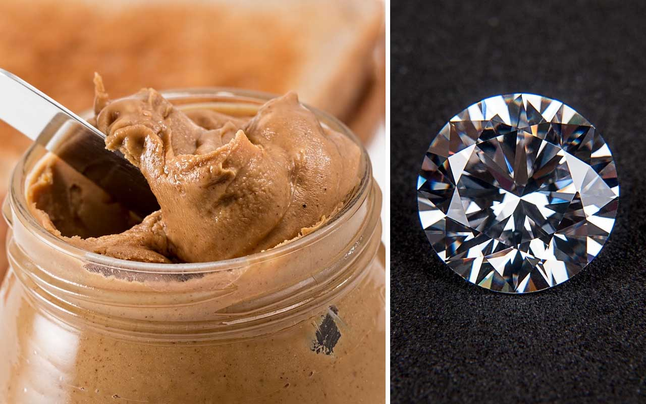 peanut butter, foods, facts, diamond, science