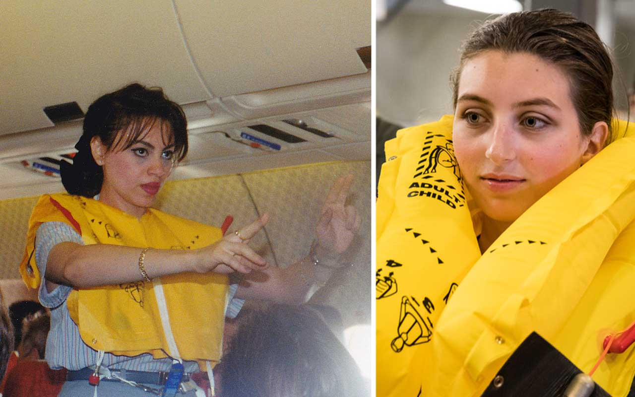 airplane, life vest, jacket, inflatable, raft, emergency, facts, people
