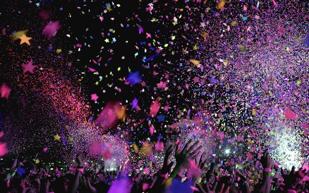 confetti, New York, New Year's Eve, party, celebration, people, wishes, happy, entertainment