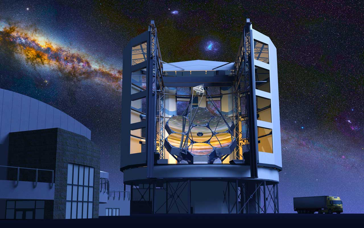 Giant Magellan Telescope - GMTO Corporation, interesting things, 2050, century, planet, Earth, science, space, facts