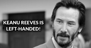 Keanu Reeves, celebrities, facts, left-handed, science