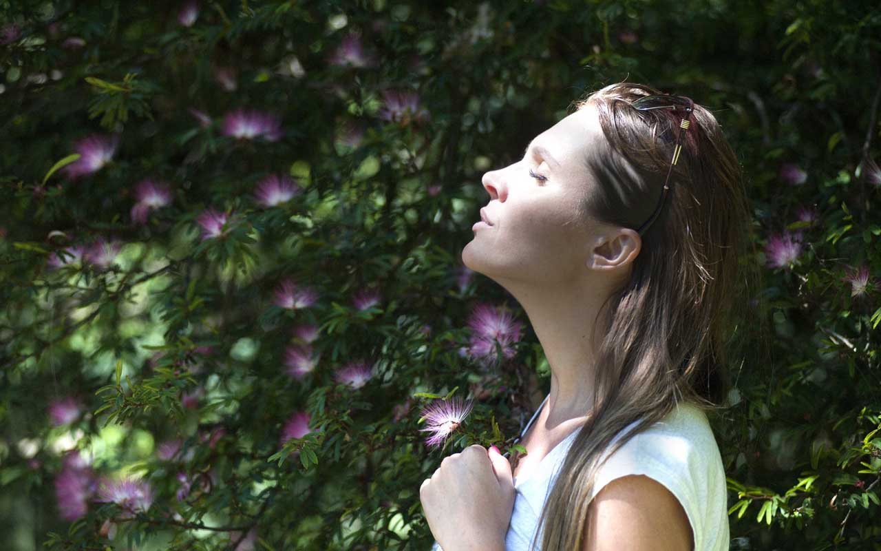 breathing, woman, nature, air, breath