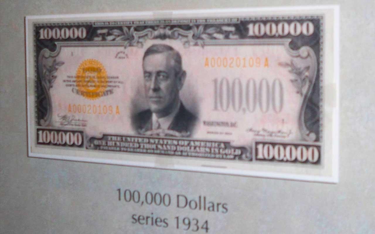 US treasury, facts, life, science, history, United States of America, life, money, bills, $100,000 bill