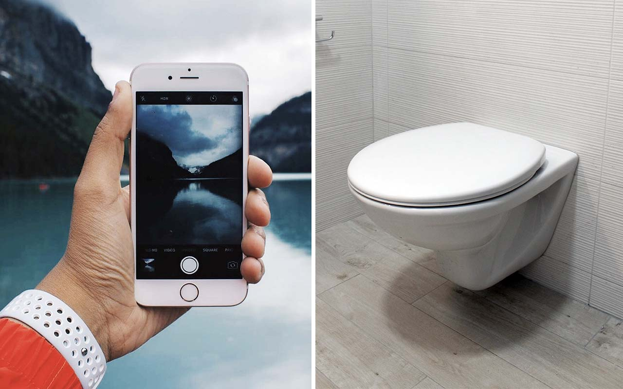 iphone, smartphone, technology, toilet, cleanliness, facts, science