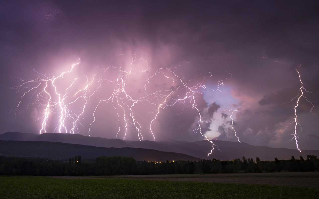 lightning, toast, science, nature, foods