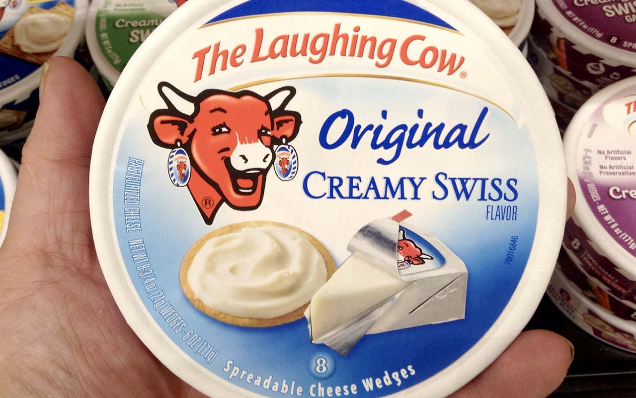The laughing cow, cheese, Droste-effect, facts, science, life, people
