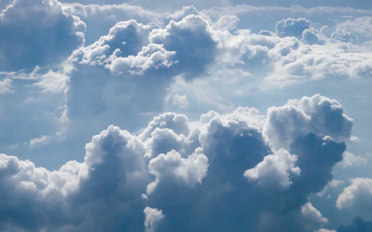 cumulus clouds, weight, science, water droplets, dispersion, science