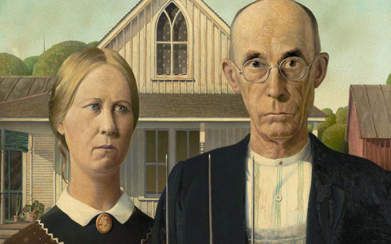 American Gothic, painting, Iowa, facts, Grant Wood, life