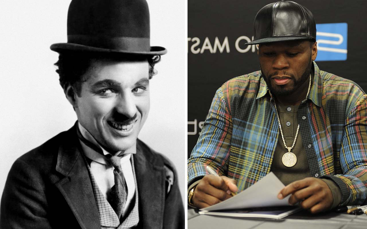 50 Cent, Charlie Chaplin, facts, history, false, facts, pictures in history