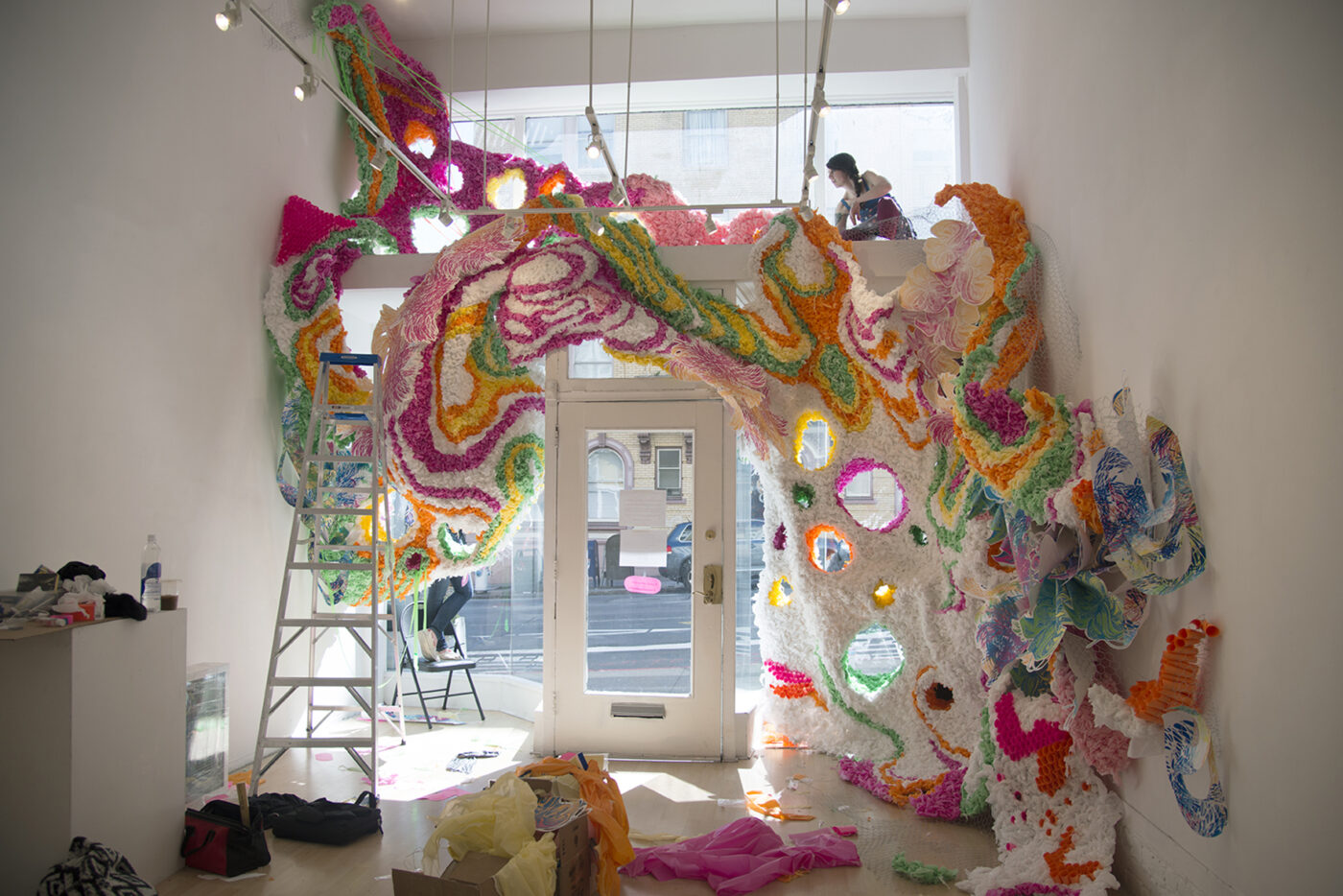 Crystal Wagner, sculpture, paper, installations