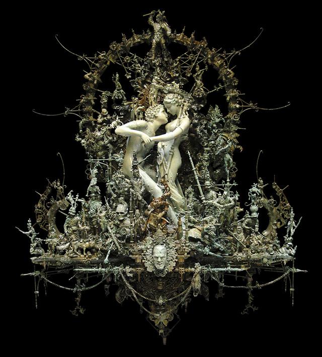 Kris_Kuksi_lovers_Sculpture_Beautiful_Bizarre