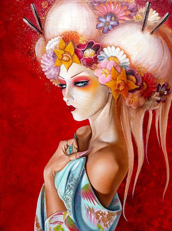 Crystal_Sylver_Geisha-Blanco_painting_beautiful-bizarre