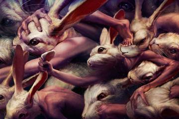 Ryohei Hase Art Rabbits Go Forward