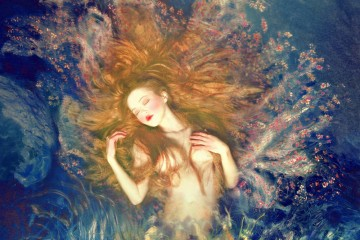 Olga Valeska Fine Art Photographer Self Portrait Water Nymph
