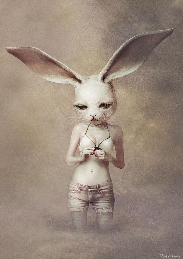 Ryohei Hase Rabbit Girl Art