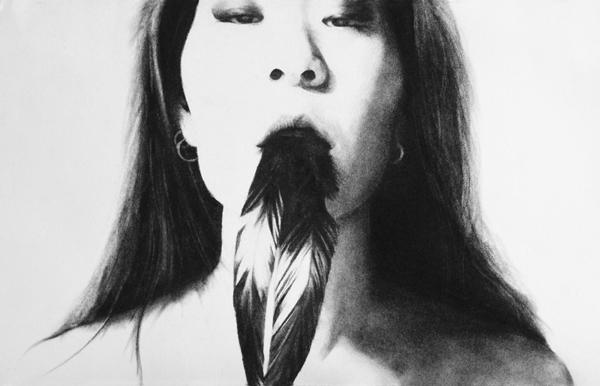 Stephanie Inagaki Murder of Crows Drawing Metamorphosis