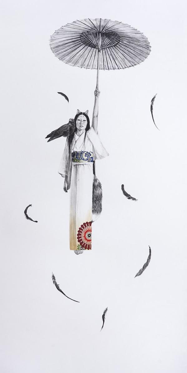 Stephanie Inagaki Dream GuardianDrawing Metamorphosis