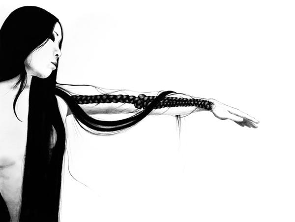 Stephanie Inagaki Hair braid Drawing