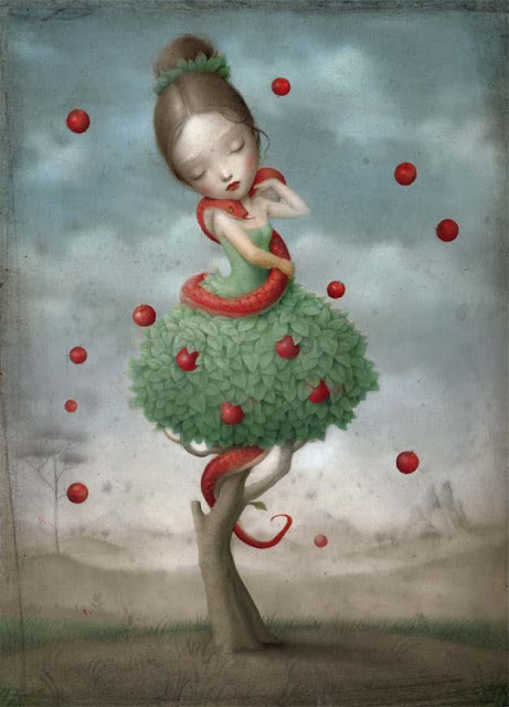 the beautiful and bizarre world of nicoletta ceccoli - whimsical surrealistic painting