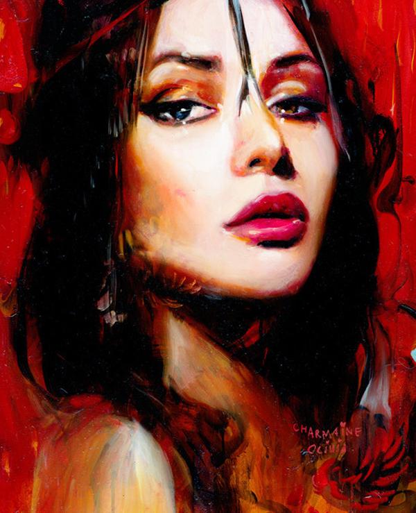 Charmaine Olivia Ruby Beautiful Bizarre Magazine Painting
