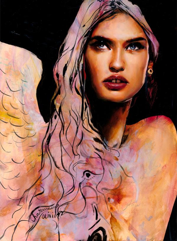 Charmaine Olivia Angel Beautiful Bizarre Magazine Painting