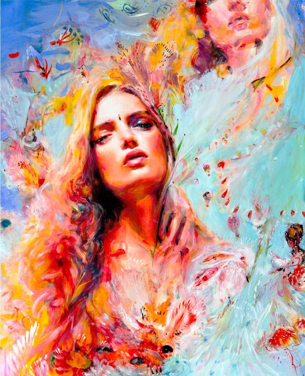 Charmaine Olivia Jewel Beautiful Bizarre Magazine Painting