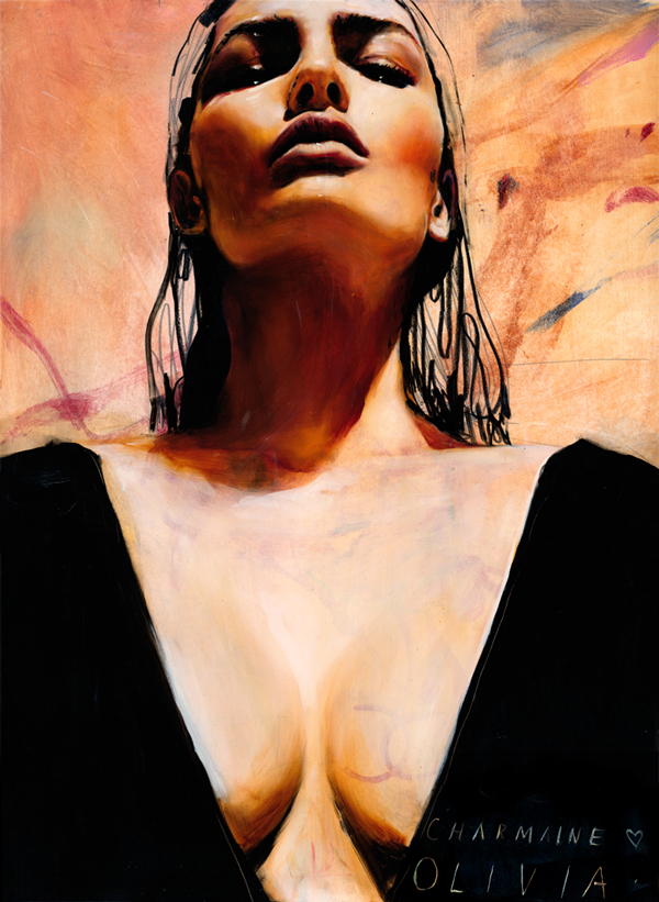Charmaine Olivia Lookout Beautiful Bizarre Magazine Painting