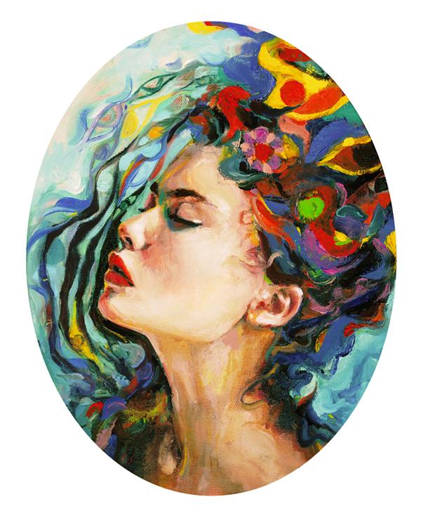 Charmaine Olivia Queensbath Beautiful Bizarre Magazine Painting
