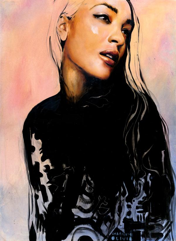 Charmaine Olivia Sorbet Beautiful Bizarre Magazine Painting