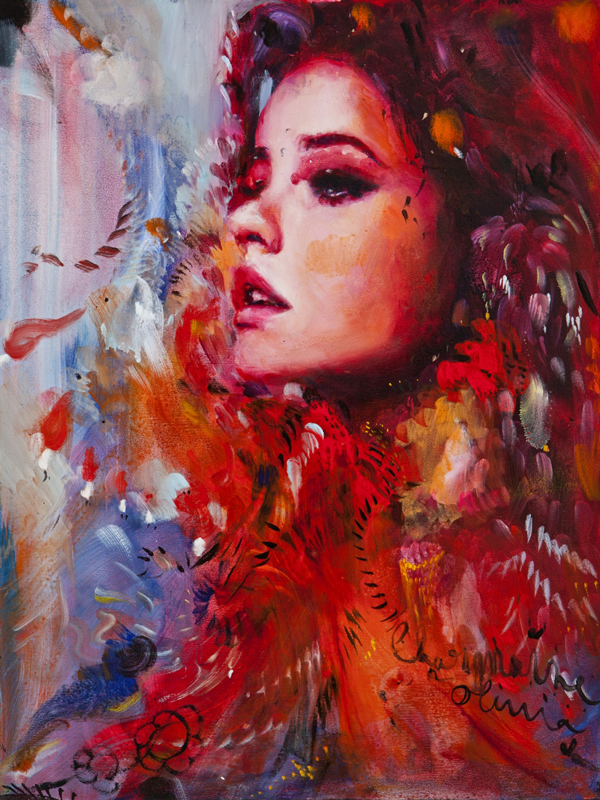 Charmaine Olivia Horizon Beautiful Bizarre Magazine Painting
