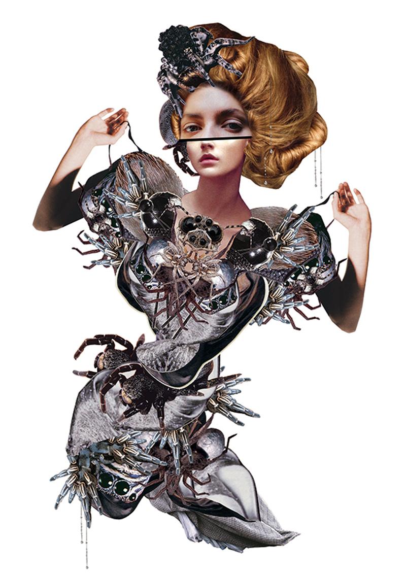 maren esdar mixed-media collage illustration