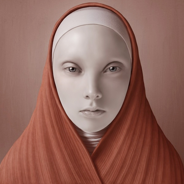 Oleg Dou Digital Art Nun