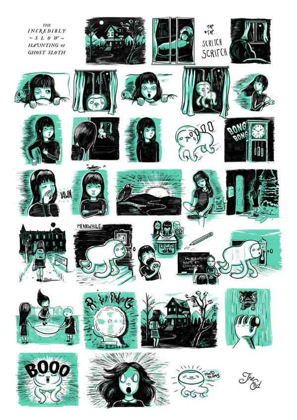 Jade_Klara_The_Incredibly_Slow_Haunting_of_Ghost_Sloth_Poster_2013_beautifulbizarre