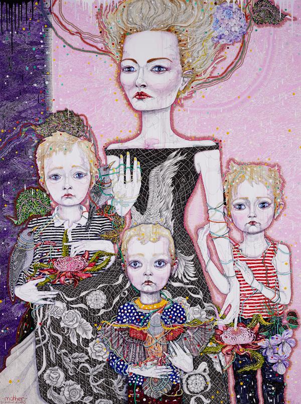 Del Kathryn Barton Australian Artist Painting 1